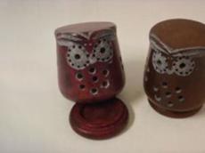Incensario Búho Piedra Jabón tallado - Laura Casart